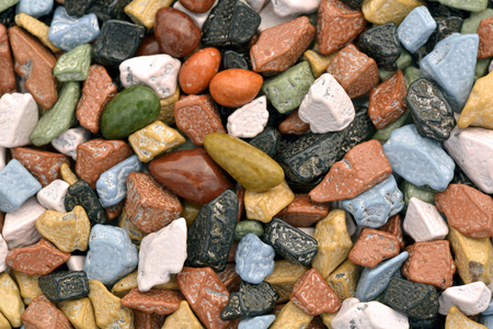Close-up of chocolate pebbles  to use as background photo