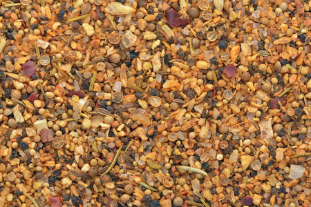 fennel seeds: Close-up of marinade spices used for cook poultry on BBQ
