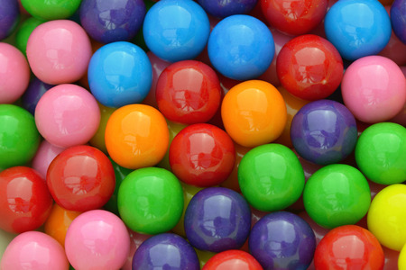 Multi colored gumballs to use as background Stock Photo