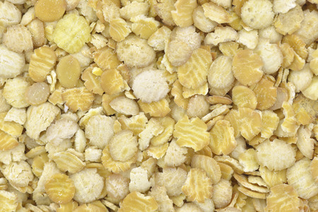 substitution: Close-up of soy flakes to use as background Stock Photo