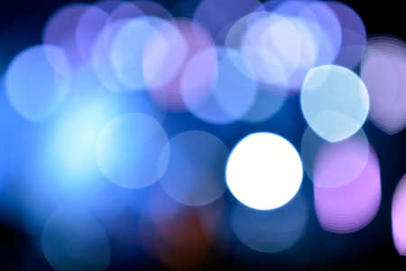 blue lights: Blurred stage lights a rock concert in holiday Stock Photo