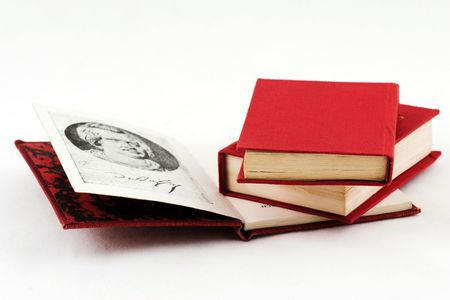 The reading of books this splendid hobby, the harm that is on this so little times Stock Photo - 658003