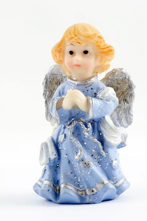 elfin: figurines of angels are a symbol of the christmas and often toy for children Stock Photo