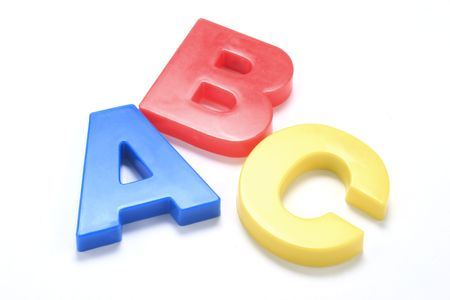 ABC Alphabets on white background with shadow photo