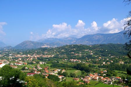 molise: Village on the valley in Molise Italy