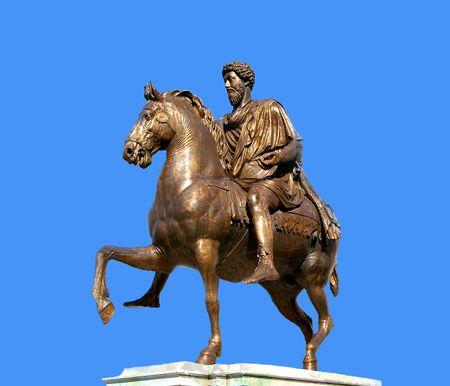 marc: Statue of Emperor Marc Aurel in Roma