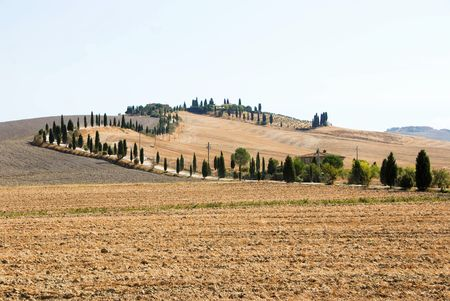 typical: typical panorama of Tuscany Stock Photo