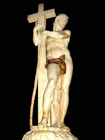 jesuschrist: Marble of JesusChrist by Micheangelo