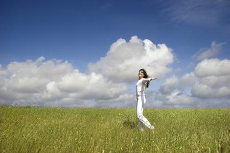 Beautiful woman having fun in the nature Stock Photo - 1684692