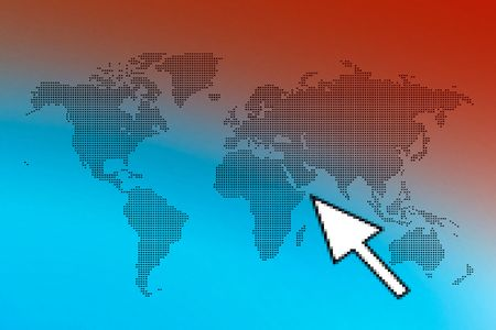 ps:  Colored World map presentation Ð made in PS  Stock Photo