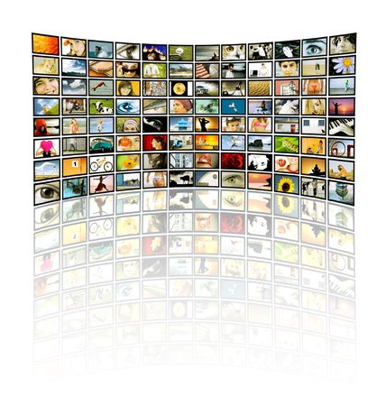 Big Tv-Panel with reflection 