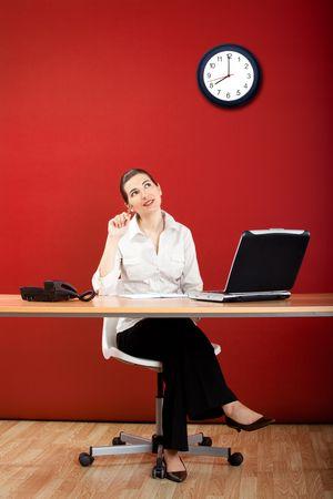 Businesswoman calling at phone photo
