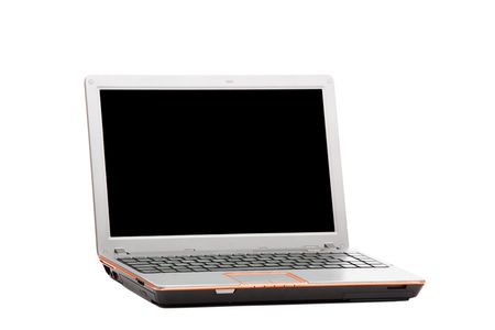 Modern laptop isolated over a white background Stock Photo - 5239849