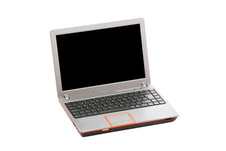 Modern laptop isolated over a white background Stock Photo - 5239852