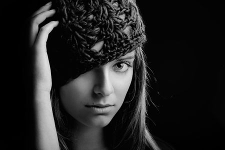 Close-up portrait of a beautiful and young woman Stock Photo - 5276042