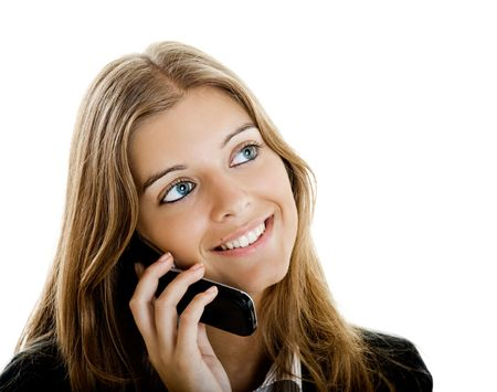 Portrait of a beautiful businesswoman using mobile phone Stock Photo - 5350923