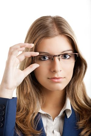 Portrait of a young and beautiful business woman. Stock Photo - 5350948