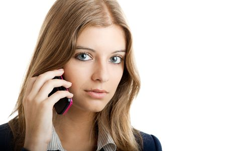 Portrait of a beautiful businesswoman using mobile phone Stock Photo - 5479771