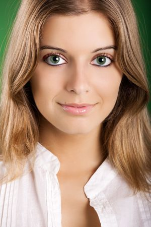 Close-up portrait of a Fresh and Beautiful young woman Stock Photo - 5518154