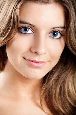 Close-up portrait of a Fresh and Beautiful young woman photo