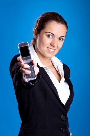 Beautiful young businesswoman calling by cellular phone. Stock Photo - 5767864