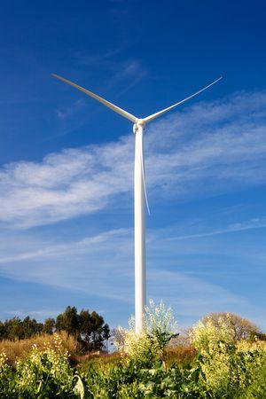 Wind turbine on a beautiful green meadow, energy concept Stock Photo - 6197650