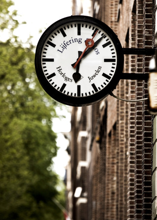strret: Beautiful clock in one of the Amsterdam streets