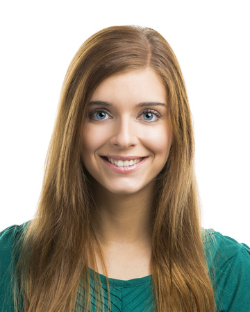 Portrait of a beautiful and happy young woman photo