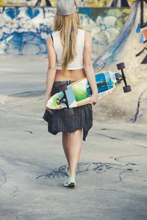 swag: Skater Girl Stock Photo
