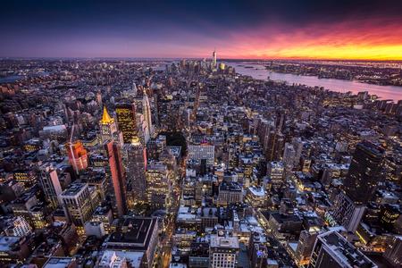 tilt view: Top view of New York City, Tilt and Shift Blur