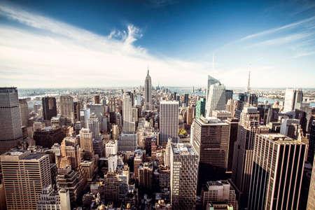 cenital: Vista superior de la ciudad de Nueva York, Top of the Rock Foto de archivo