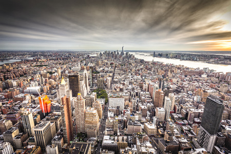 empire state building: Top view of New York City, Tilt and Shift Blur
