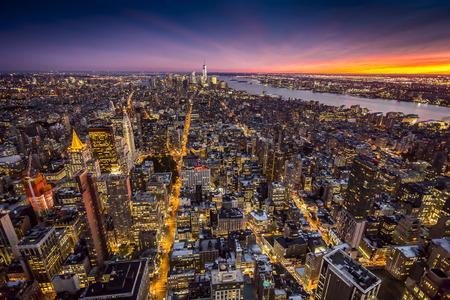 tilt shift: Top view of New York City, Tilt and Shift Blur