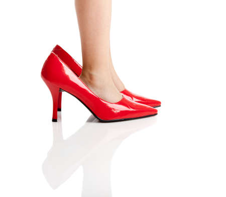 fetysz: Małe dziecko odtwarzanie buty mommy czerwone whit