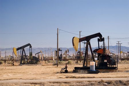Oil field in Californias Central Valley.