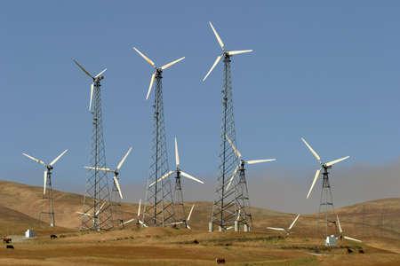 pollution air: Generadores e�licos, las vacas, y California  's Central Valle de la contaminaci�n del aire.