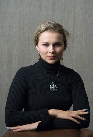 Portrait of the girl in studio Stock Photo - 479263
