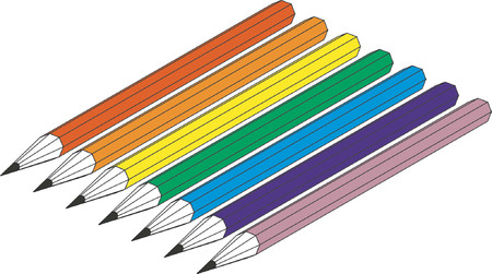 The pencils Stock Vector - 489677