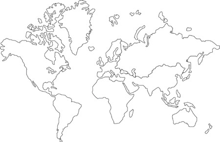 oceans: Vector map of the world Illustration