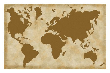 Old map of the world photo