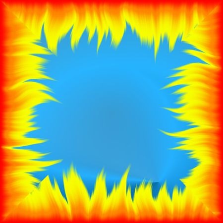 blazes: Color fiery abstraction