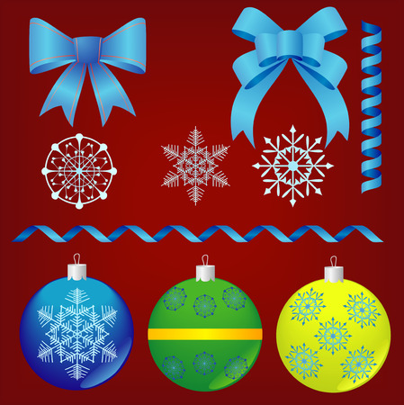 joyous: Christmas and New-Years decorations. Vector image Illustration