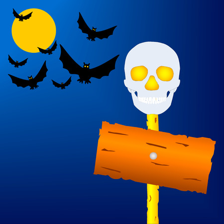 Holiday a Halloween. The vector image. Illustration