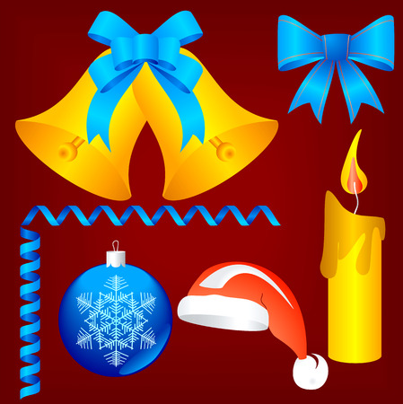 Christmas and New-Year's decorations. Vector image Stock Vector - 1787199