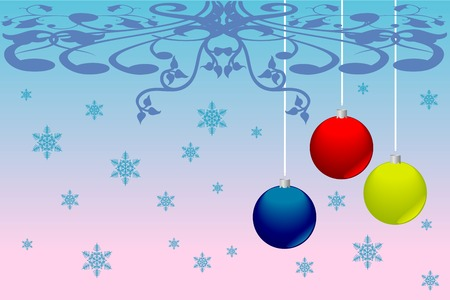 newyears: Christmas and New-Years decorations. Vector image Illustration