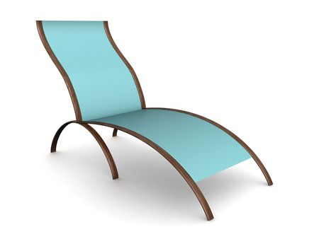 Deckchair on a white background. 3D image. Stock Photo - 2778671
