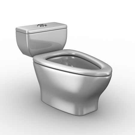 Toilet bowl on white background. Isolated 3D image Stock Photo - 6588994