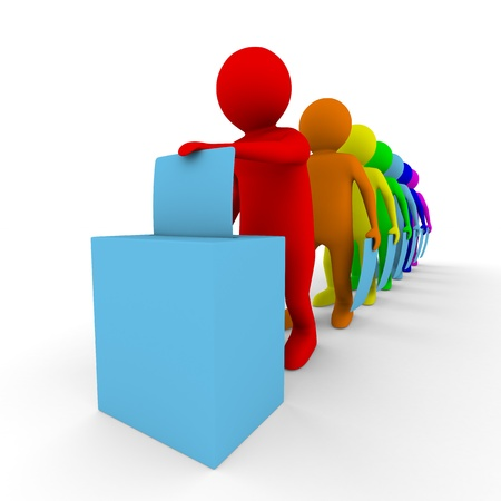 vorschlag: Aktivieren Sie für Abstimmung auf weiß. Isolated 3D image