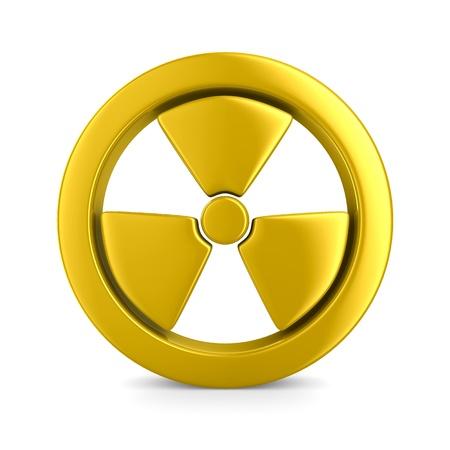 radiation symbol on white. Isolated 3D image photo
