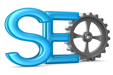 Search Engines Optimization. Isolated 3D image photo